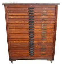 hamilton solid oak 20 drawer printers filing cabinet