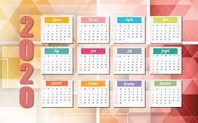 abstract background, calendar 2020 ...