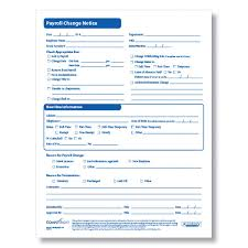 Employee Hire Forms Payroll Change Form