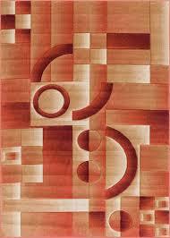 area rugs atherton modern geometric squares orange area rug