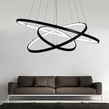 Led Hängelampe Modern 3 Ring Rund Design Esszimmerlampe