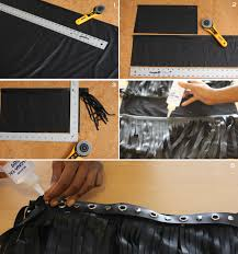 leather fringe skirt made with faux leather from mood fabrics