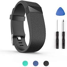 <b>Replacement Silicone Wrist Strap</b> Bracelet For Fitbit Charge HR ...