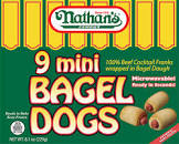 bagel dogs or mini bagel dogs