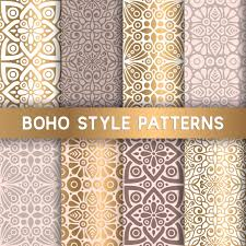 Boho Patterns Mesmerizing Luxury Boho Style Patterns Vector Free Download