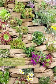 fresh gap gardens rock garden made from pile of stones with succulents sh53