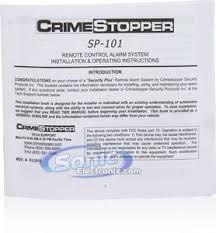 crimestopper sp 101 wiring diagram crimestopper crimestopper sp 101 sp101 1 way car alarm and keyless entry on crimestopper sp 101 wiring
