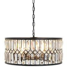 cassiel round drum crystal chandelier extra large black with intended for amazing property drum crystal chandelier plan