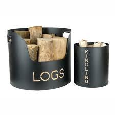 modern log holders baskets racks  contemporary heaven uk