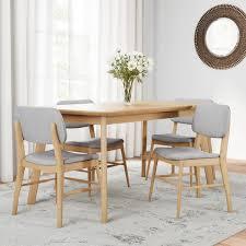 large dining table. Carson Carrington Kemi Mid-century 5-piece Wood Large Dining Table Set