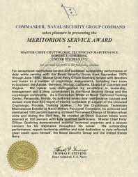 Defense Meritorious Service Medal Citation Example