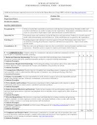 Performance Appraisal Form Format Photo Simple Performance Appraisal Template Images Example Sample 1