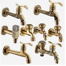 2018 whole luxury antique brass decorative outdoor faucet garden bibcock tap bathroom washing machine mop faucet from galry 42 75 dhgate com