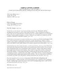 Best Photos Of Sample Letter Intent Sample Letter Intent College
