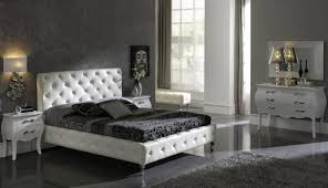Modern Leather Bedroom Sets Spain Made Modern Bedroom Set In White Or Black Leather 249900