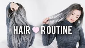 Maintaining Grey + Silver Hair | Hair Routine for Bleached / Dyed ...