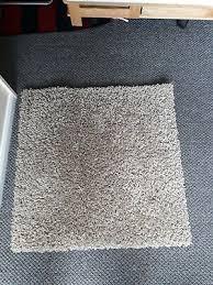 ikea hampen rug carpet 80x80 cm high pile high quality square
