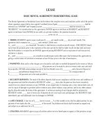 Simple Rental Lease Agreement Basic Lease Agreement Template Rental Form 6 Month Sample To