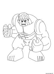 Coloriage Lego Marvel Super Hulk Jecolorie Com