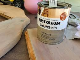 Rustoleum Driftwood Stain Outdoor Table Re Do