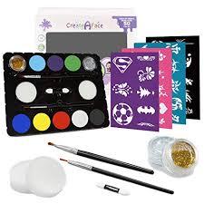 face painting kit 32 stencils paints 50 80 faces body makeup