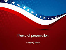 america ppt template usa patriotic themed powerpoint template backgrounds 13784