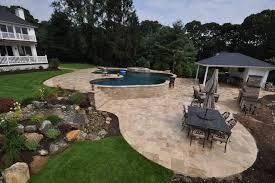 travertine pavers pool patio driveway walkway long island ny deck and patio natural stones