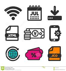 Download Icon. Shopping Sale Symbol. HTML Document And Calendar July ...