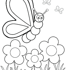 Spring Colouring Pages For Kindergarten Springtime Coloring Pictures