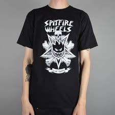 spitfire t shirt. venice style skate t-shirt - black spitfire t shirt e