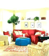 red sofa grey rug decor living room couch home decorating cupcakes