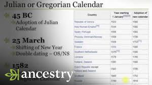 Double Dating Julian Calendar Or Gregorian Calendar Ancestry