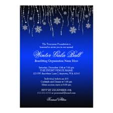 charity ball invitations & announcements zazzle co uk Wedding Invitations Charity Uk blue silver snowflakes gala ball invitations wedding invitations charity uk