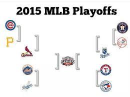 2015 Mlb Playoff Bracket Mlb Postseason Baseball Playoffs