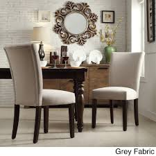 Amazon.com - INSPIRE Home Catherine Parsons Dining Room Side Chair (Set of  2) Gray Fabric - Chairs