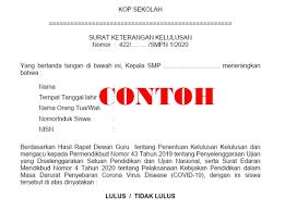 We did not find results for: Surat Keterangan Lulus Siswa Smp Tahun 2020 Sesuai Persekjen Kemdikbud No 5 Tahun 2020 Berkas Sekolah