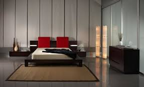 sophisticated bedroom furniture. Modern Bedroom Design With Minimalist Furniture And Apply Sophisticated Floor Lamps Put In Corner Room Plus Decorated Red Accents R