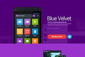 Android Design Inspiration Blue Velvet Android Ui Kit Styletheweb Com