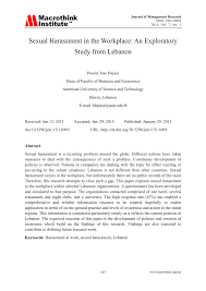 Sexual harassment research papers