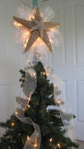 Real starfish made into a Christmas tree topper - Decoist