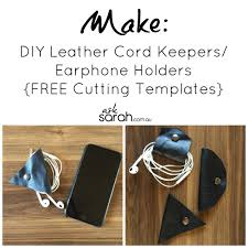 Free Leather Templates Make Diy Leather Cord Keepers Earphone Holders Free