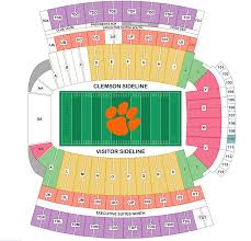 Clemson Tigers Memorial Stadium Seating Chart Best Picture