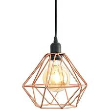 copper geometric ceiling light diamond cage pendant a liked on featuring home lighting lights lamp g copper geometric ceiling light