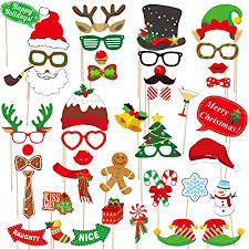 2020 Christmas Photo Booth Props – 42 Pack DIY ... - Amazon.com