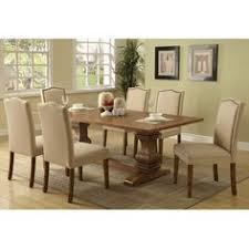 coaster parkins dining table in coffee 103711 pedestal tables tables by dining rooms outlet