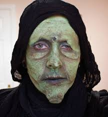 scary witch make up idea