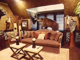 Hunting Decor For Living Room Cabin Themed Living Room Living Room Design Ideas