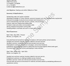 Bank Teller Resume No Experience Cover Letter Bank Teller No Experience Image collections Cover 61