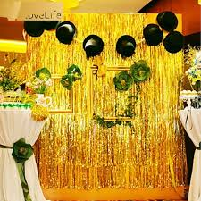5 colors gold foil fringe curtain 1 2m door curtains tinsel shining party wedding birthday