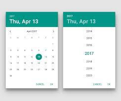 Material Design Lite Datepicker Md Date Time Picker